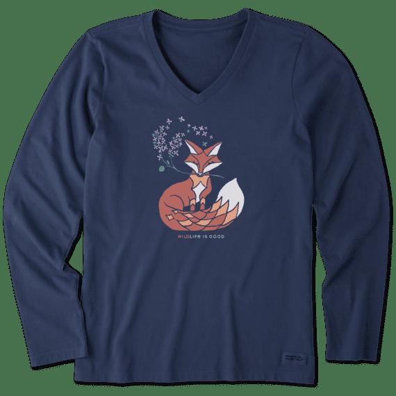 Women's Wild Fox Long Sleeve Crusher Vee