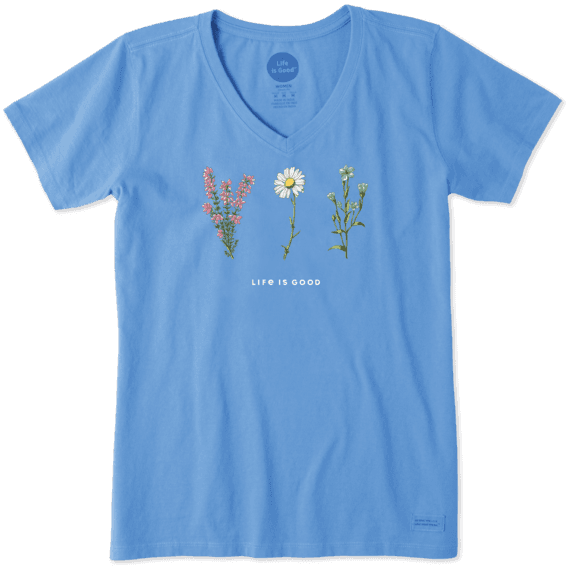Women's Wild Wildflowers Crusher Vee