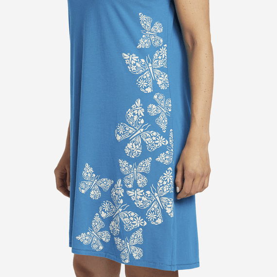 Women's Wildflower Butterflies Smooth Tee Dress