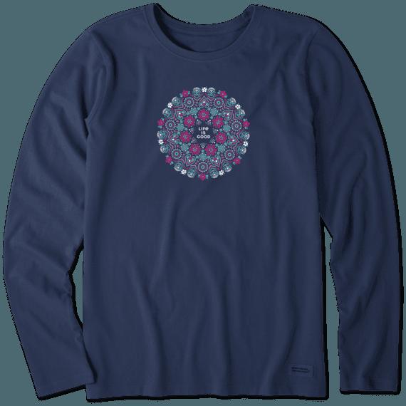 Women's Wildflower Primal Mandala Long Sleeve Crusher Tee
