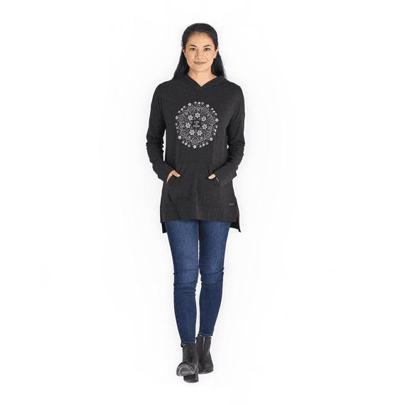 Women's Wildflower Primal Mandala Supreme Blend Long Hoodie