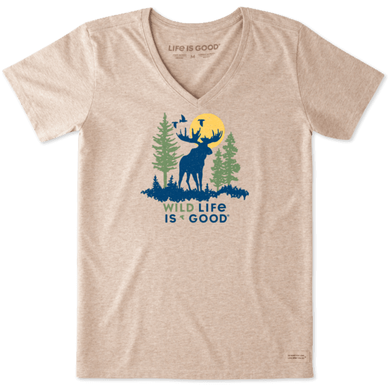 Women's Wildlife Moose Crusher Vee