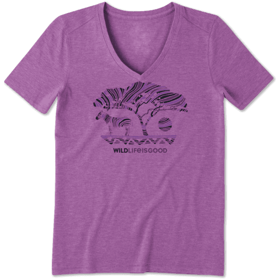 Women's Wildlife Zebra Cool Vee