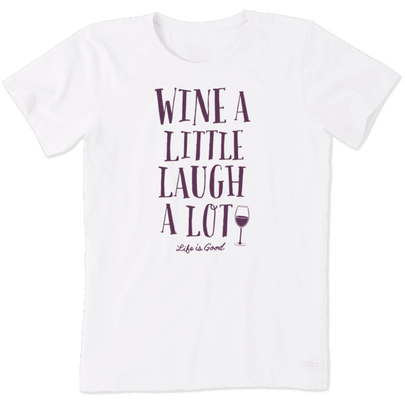 Women's Wine A Little Laugh A Lot Crusher Tee