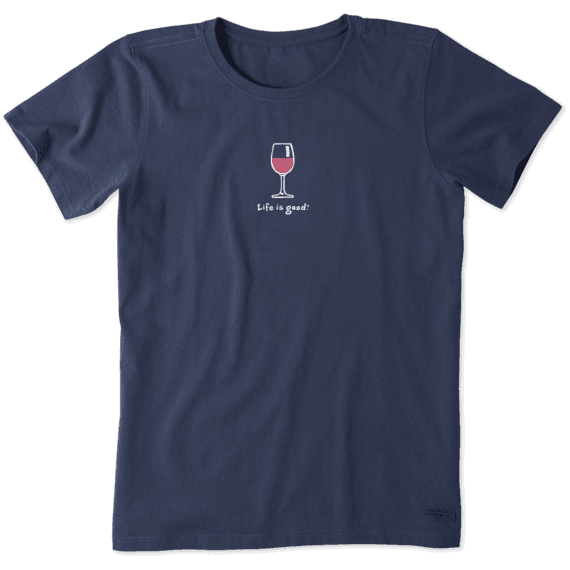 Women's Wine Glass Vintage Crusher Tee