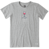 Women's Wine Glass Vintage Crusher Tee
