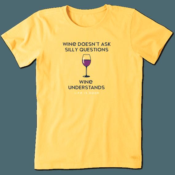Women's Wine Understands Crusher Tee