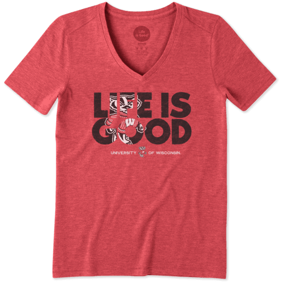 Women's Wisconsin Badger LIG Fill Cool Tee