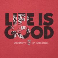 Women's Wisconsin Badger LIG Fill Cool Tee