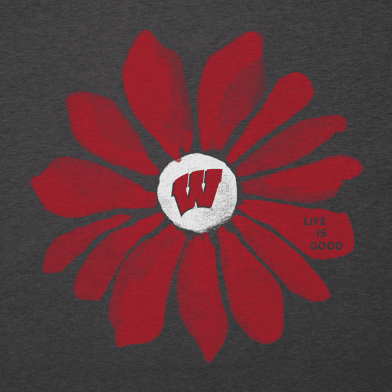 Women's Wisconsin Daisy Long Sleeve Cool Vee