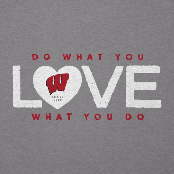 Women's Wisconsin Do What You Love Heart Cool Vee