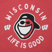 Women's Wisconsin Face Paint Jake Long Sleeve Cool Vee