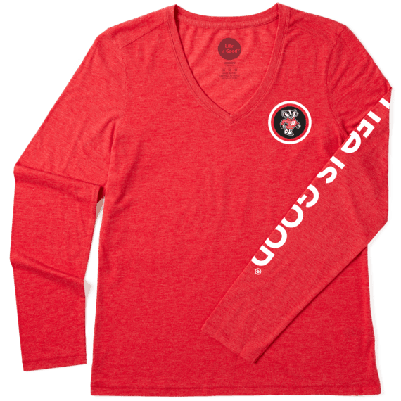 Women's Wisconsin Team Coin Long Sleeve Cool Vee