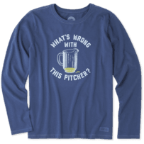 Women's What's Wrong With This Pitcher Long Sleeve Crusher Tee