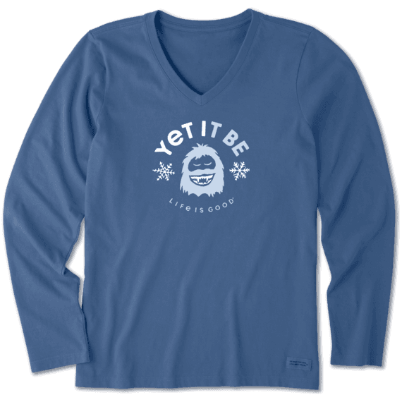 Women's Yet It Be Long Sleeve Crusher Vee