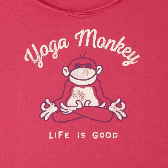 Women's Yoga Monkey Long Sleeve Smooth Tee