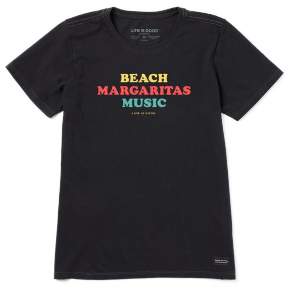 Women's Beach Margaritas Music Crusher Tee