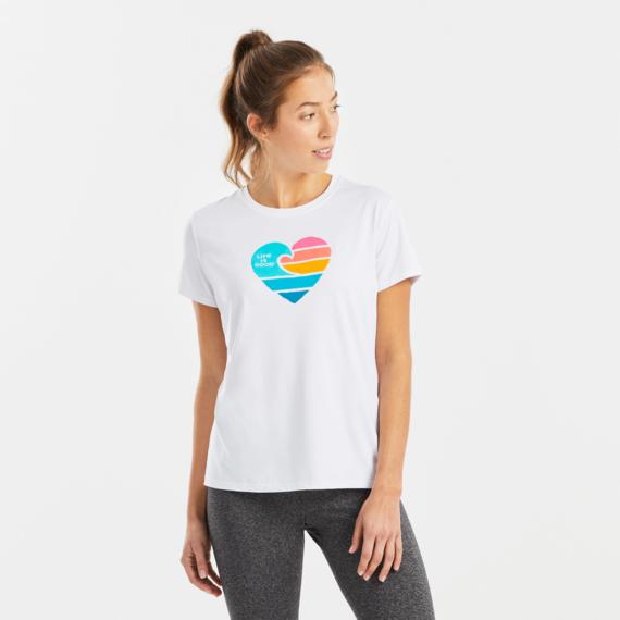 Women's Clean Wave Heart Active Tee
