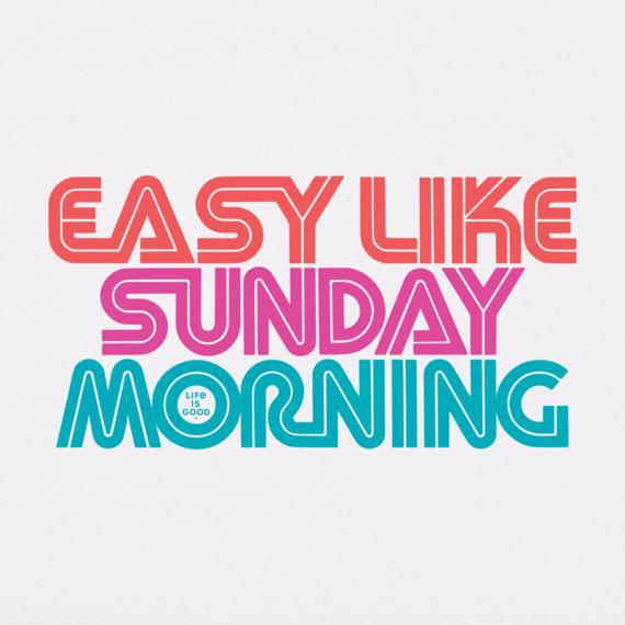 Women's Easy Like Sunday Morning Crusher Tee