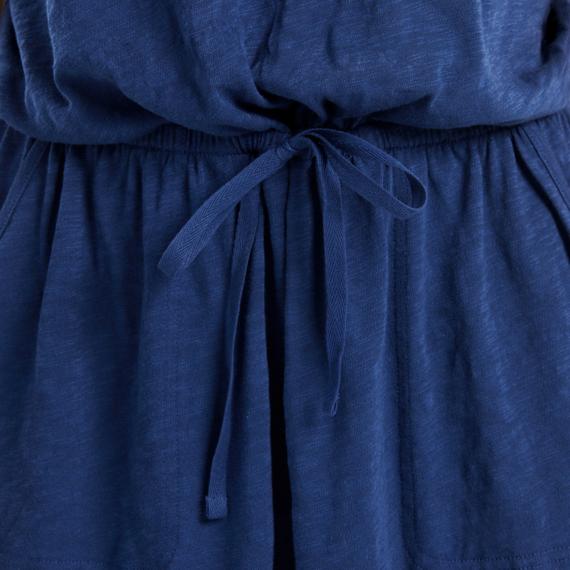Women's LIG Est 1994 All Colors Textured Slub Short-Sleeve Drawstring Dress