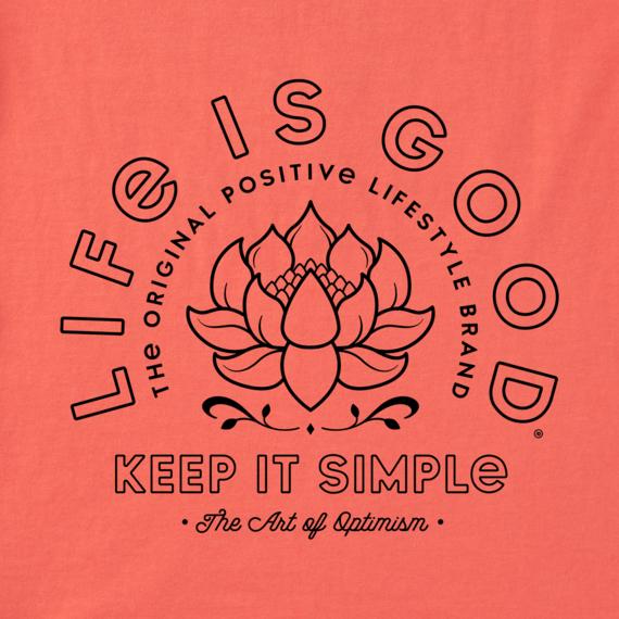 Women's Keep it Simple Lotus Crusher Tee
