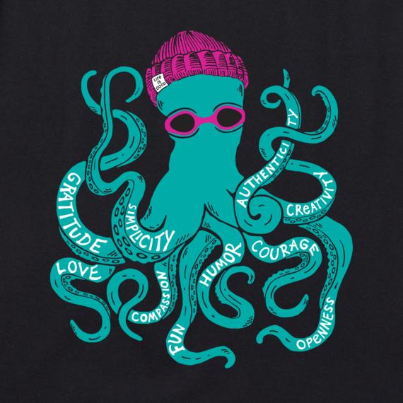 Women's Superpower Octopus Crusher Tee