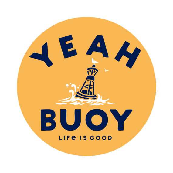 Yeah Buoy 4-Circle Sticker